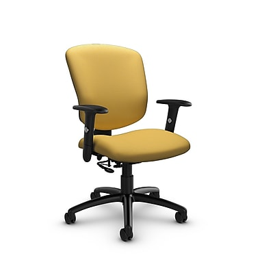 Global® (5336-7 IM73) Supra-X Posture Chair, Imprint Currie Fabric, Yellow