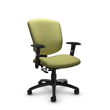 Global® (5336-7 IM78) Supra-X Posture Chair, Imprint Celery Fabric, Green