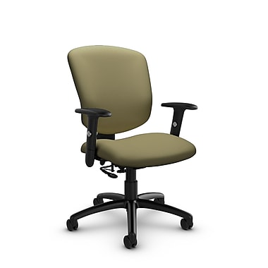 Global® (5336-7 IM79) Supra-X Posture Chair, Imprint Oregano Fabric, Green