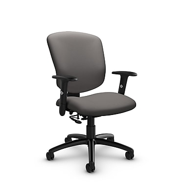 Global® (5336-7 IM82) Supra-X Posture Chair, Imprint Graphite Fabric, Grey