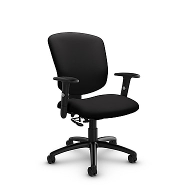 Global® (5336-7 IM84) Supra-X Posture Chair, Imprint Licorice Fabric, Black