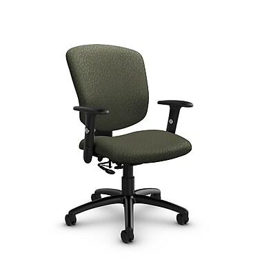 GlobalMD – Fauteuil ergonomique Supra-X (5336-7 MT22), tissu assorti mousse, vert