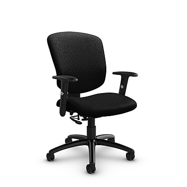 Global® (5336-7 MT32) Supra-X Posture Chair, Match Black Fabric, Black