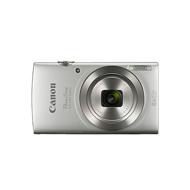 Canon PowerShot ELPH 180 Digital Camera, 20.0 MP, 8x Optical Zoom, Silver, (1093C001)