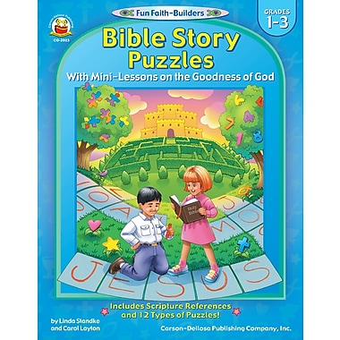 eBook: Christian 2023-EB Bible Story Puzzles, Grade 1 - 3