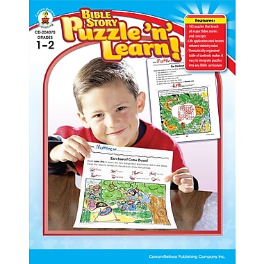 eBook: Christian 204070-EB Bible Story Puzzle 'n' Learn!, Grade 1 - 2