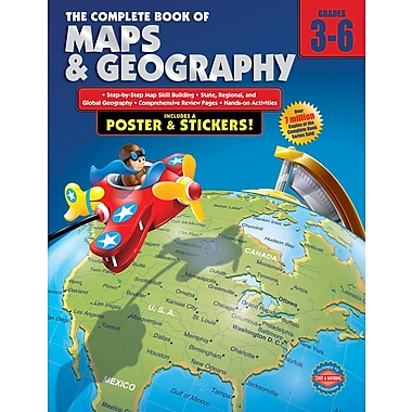 Livre numérique : American Education Publishing 0769685595-EB The Complete Book of Maps and Geography, 3e - 6e année
