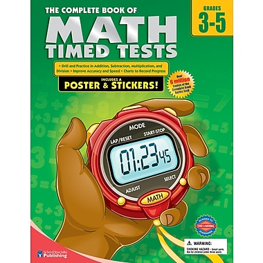 Livre numérique : American Education Publishing 0769685625-EB The Complete Book of Math Timed Tests, 3e - 5e année