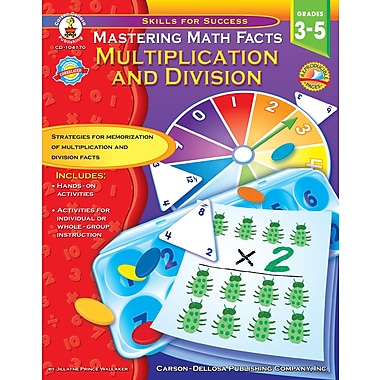 eBook: Carson-Dellosa 104170-EB Mastering Math Facts, Grade 3 - 5