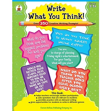 eBook: Carson-Dellosa 104228-EB Write What You Think!, Grade 3 - 8