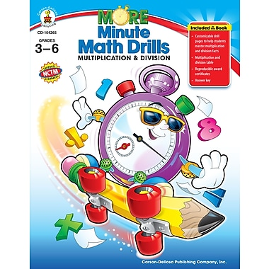 eBook: Carson-Dellosa 104265-EB More Minute Math Drills, Grade 3 - 6