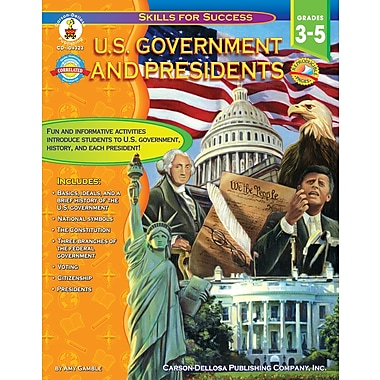 eBook: Carson-Dellosa 104323-EB U.S. Government and Presidents, Grade 3 - 5