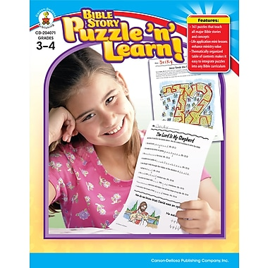 eBook: Christian 204071-EB Bible Story Puzzle 'n' Learn!, Grade 3 - 4