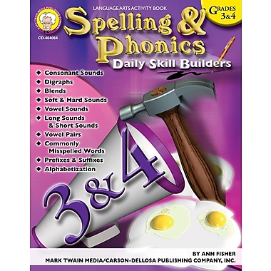 eBook: Mark Twain 404064-EB Spelling & Phonics, Grade 3 - 4