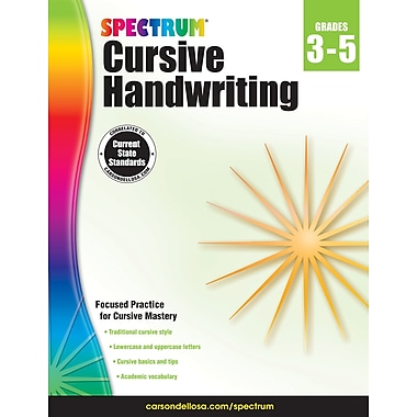 eBook: Spectrum 704692-EB Spectrum Cursive Handwriting, Grade 3 - 5