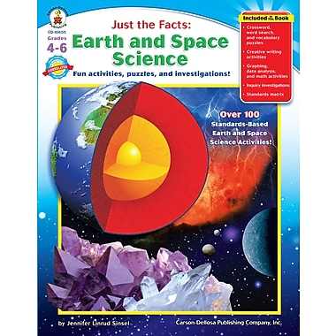 Livre numérique : Carson-Dellosa� -- Just the Facts : Earth and Space Science 104135-EB, 4e à 6e année