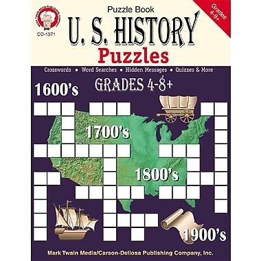 Livre numérique : Mark Twain 1371-EB U.S. History Puzzles, 4e - 8e année