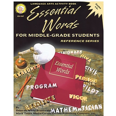 Livre numérique : Mark Twain 1547-EB Essential Words for Middle-, Grade students, 4e - 8e année