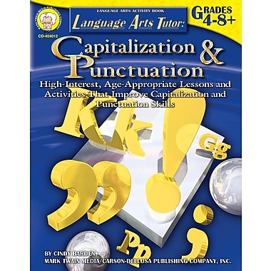 eBook: Mark Twain 404012-EB Language Arts Tutor: Capitalization and Punctuation, Grade 4 - 8