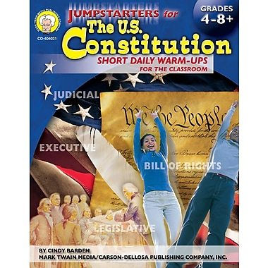 eBook: Mark Twain 404031-EB Jumpstarters for the U.S. Constitution, Grade 4 - 8