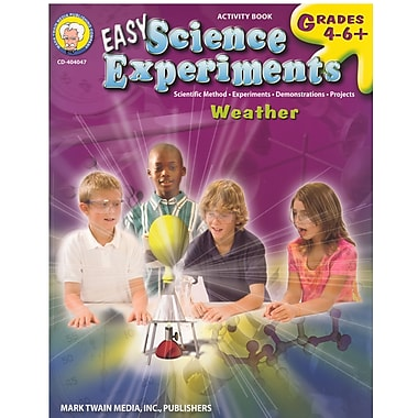 eBook: Mark Twain 404047-EB Easy Science Experiments, Grade 4 - 8