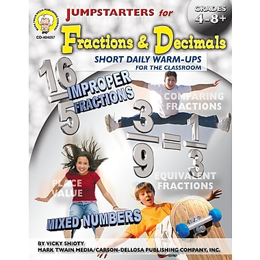 eBook: Mark Twain 404057-EB Jumpstarters for Fractions & Decimals, Grade 4 - 8