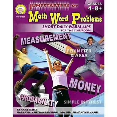 Livre numérique: Mark Twain « Jumpstarters for Math Word Problems », 9 à 14 ans, 404059-EB
