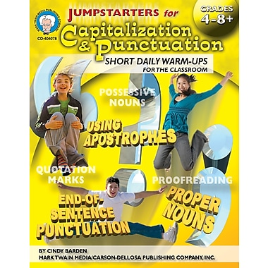eBook: Mark Twain 404078-EB Jumpstarters for Capitalization & Punctuation, Grade 4 - 8