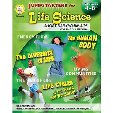 eBook: Mark Twain 404092-EB Jumpstarters for Life Science, Grade 4 - 8