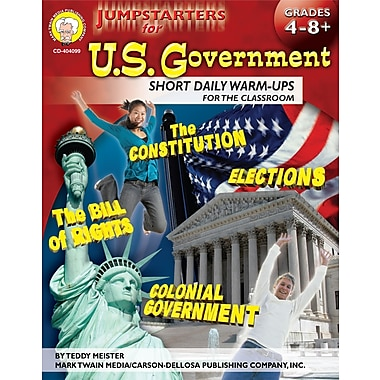eBook: Mark Twain 404099-EB Jumpstarters for U.S. Government, Grade 4 - 8