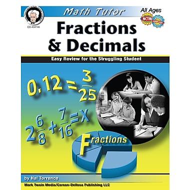 Livre numérique: Mark Twain « Math Tutor », 404146-EB: « Fractions and Decimals », 9 à 14 ans
