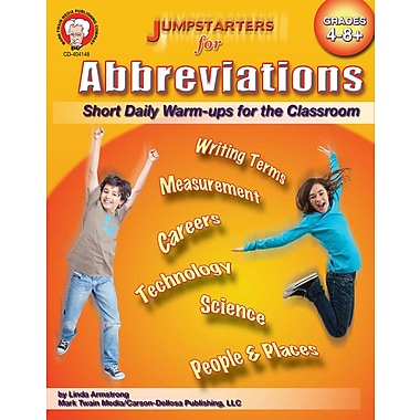 eBook: Mark Twain 404148-EB Jumpstarters for Abbreviations, Grade 4 - 8