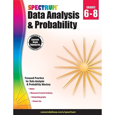 Livre numérique : Spectrum 704705-EB Spectrum Data Analysis and Probability, 6e à 8e année