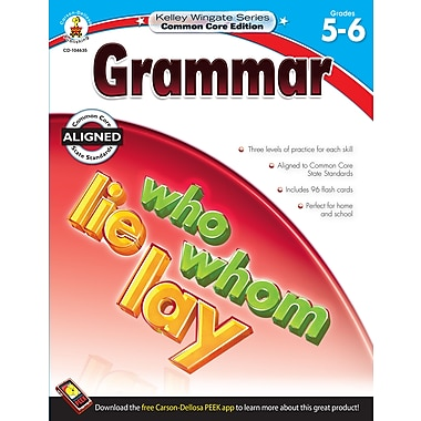 Livre numérique : Carson-Dellosa� -- Grammar 104635-EB, 5e et 6e année