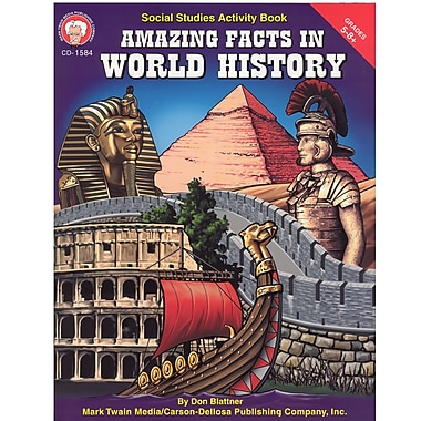 Livre numérique : Mark Twain 1584-EB Amazing Facts in World History, 5e - 8e année