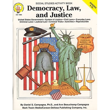eBook: Mark Twain 1860-EB Democracy, Law, and Justice, Grade 5 - 8