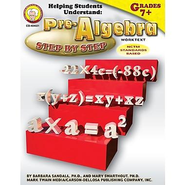 Livre numérique : Mark Twain 404021-EB Helping Students Understand Pre-Algebra, 7e - 8e année