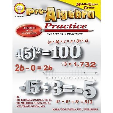 Livre numérique: Mark Twain « Pre-Algebra Practice Book », 11 à 14 ans, 404041-EB