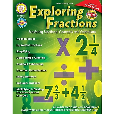 eBook: Mark Twain 404088-EB Exploring Fractions, Grade 6 - 12