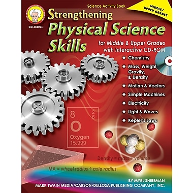 Livre numérique: Mark Twain « Strengthening Physical Science Skills for Middle & Upper Grades », 11 à 18 ans, 404094-EB