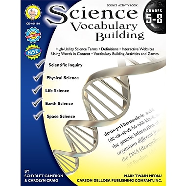 eBook: Mark Twain 404110-EB Science Vocabulary Building, Grade 5 - 8