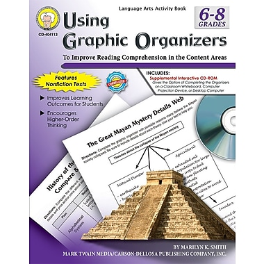 eBook: Mark Twain 404113-EB Using Graphic Organizers, Grade 6 - 8