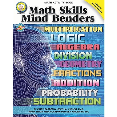 eBook: Mark Twain 404132-EB Math Skills Mind Benders, Grade 6 - 12