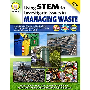Livre numérique: Mark Twain « Using STEM to Investigate Issues in Managing Waste », 10 à 14 ans, 404143-EB
