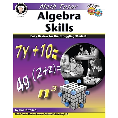 eBook: Mark Twain 404144-EB Math Tutor: Algebra, Grade 6 - 8