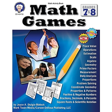 eBook: Mark Twain 404153-EB Math Games, Grade 7 - 8