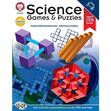 eBook: Mark Twain 404165-EB Science Games and Puzzles, Grade 5 - 8