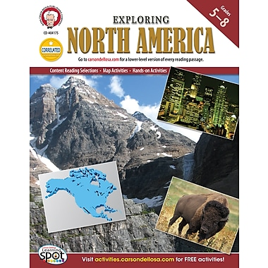 eBook: Mark Twain 404175-EB Exploring North America, Grade 5 - 8