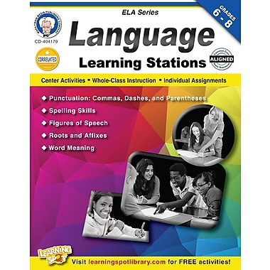 eBook: Mark Twain 404179-EB Language Learning Stations, Grade 6 - 8