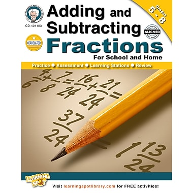 eBook: Mark Twain 404183-EB Adding and Subtracting Fractions, Grade 5 - 8